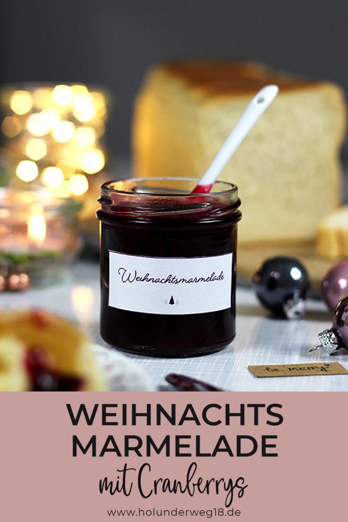 Rezept für Weihnachtsmarmelade mit Beeren, Orange und Cranberrys - ein prima Geschenk aus der Küche