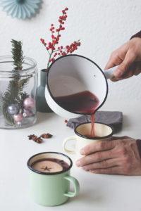 WEihnachtspunsch Rezept: Schwedischer Weihnachtspunsch Pettersson und Findus. Glühwein alkoholfrei. Holunderweg18