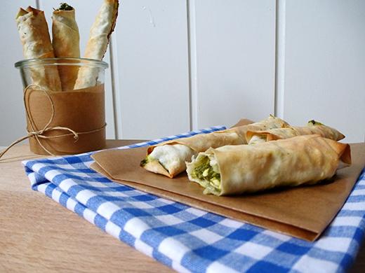 Sigara Börek - Spinat-Feta-Röllchen im Filoteig, vegetarisches Rezept