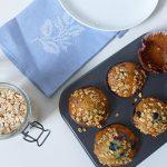 Vegane Frühstücksmuffings mit Agavendicksaft gesüßt