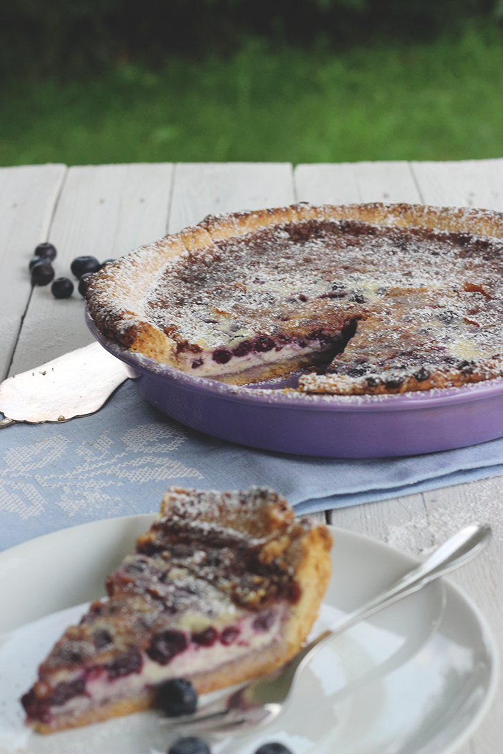 Kuchen mit Heidelbeeren: Rezept für Heidelbeer-Mascarpone-Tarte mit weißer Schokolade. Holunderweg18