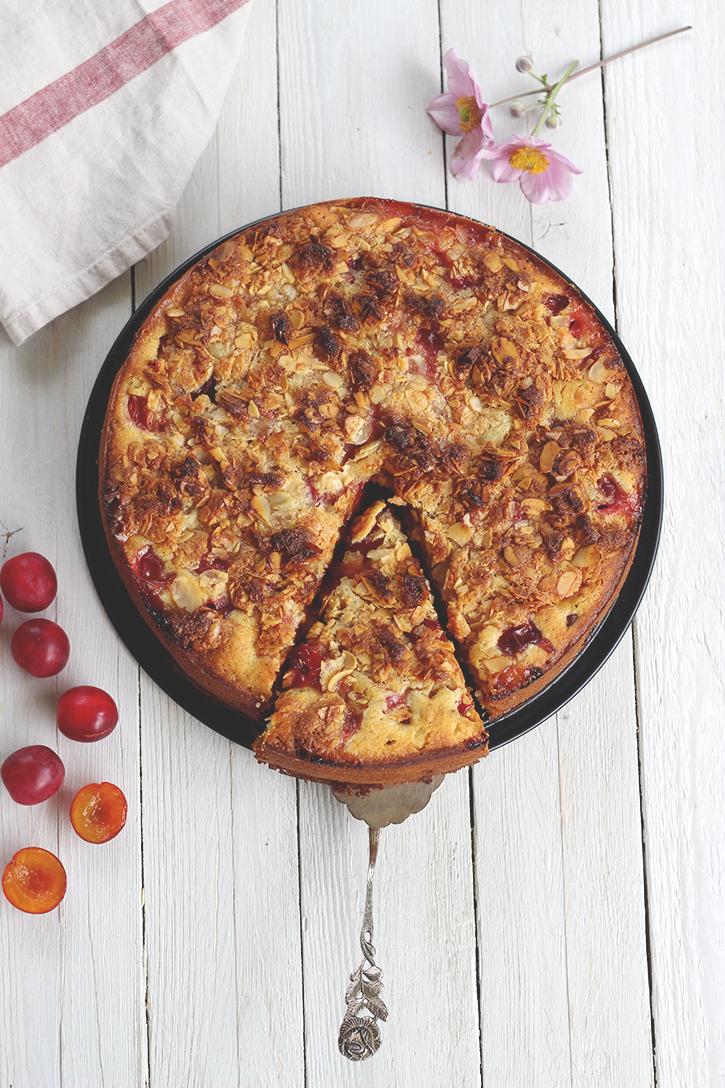 MIrabellenkuchen Rezept. Obstkuchen mit Streuseln. Holunderweg18