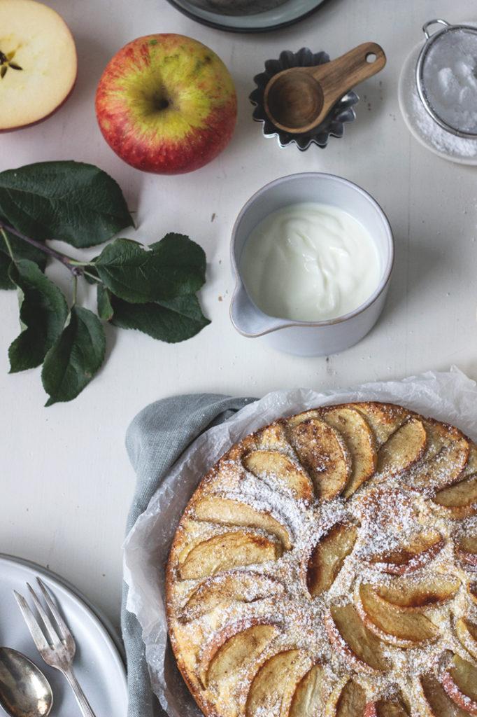 Lieblingsrezept für Apfelkuchen: Schwedischer Apfelkuchen aus der Springform mit saftigem Rührteig