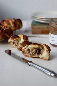 Rezept für Hefeteig-Knoten, Maronen-Brioche-Knoten