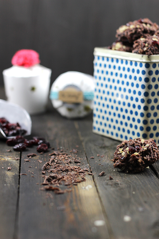 Rezept für Schoko-Cranberry-Plätzchen, Weihnachtsplätzchen, Holunderweg18