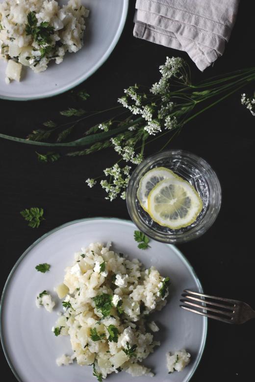 Kohlrabi-Ofenrisotto mit Feta und Kerbel, Rezept von Foodblog Holunderweg18