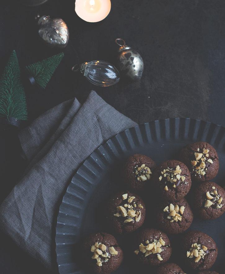 Erdnuss-Schoko-Weihnachtsplätzchen