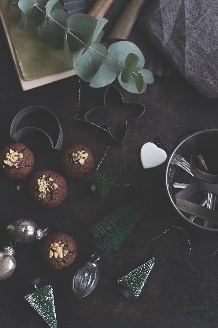 Weihnachtsplätzchen, Schoko-Erdnuss-Kekse