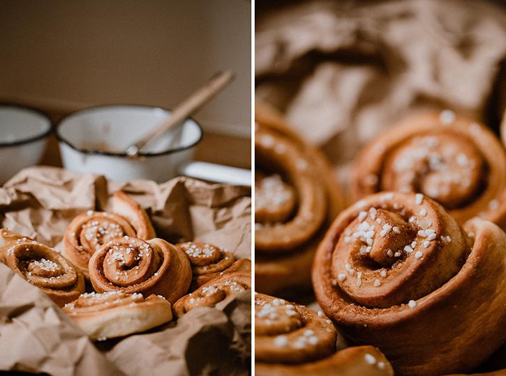 Zimtschnecken Rezept, Kanelbullar backen. Foto: Julia Pommerenke, Rezept: Holunderweg18 Foodblog
