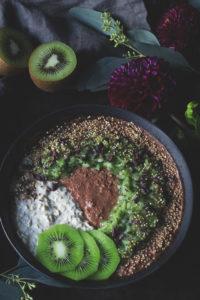 Rezept für Overnight Oats mit Haferg´flocken und Hirse, einfaches Rezept für gesundes Frühstück