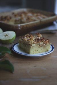 Rezept für Apfel-Blechkuchen: Schwedischer Apfelkuchen vom Blech. Holunderweg18
