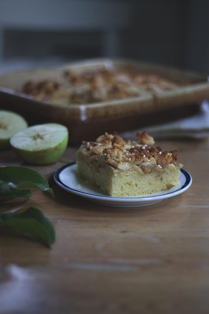 Rezept für Apfelkuchen vom Blech: schwedischer Apfel-Blechkuchen