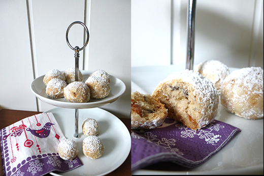 Kekskonfekt mit gebrannten Mandeln - Rezept Weihnachtsplätzchen einfach