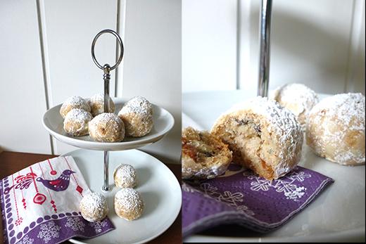 Kekskonfekt mit gebrannten Mandeln - raffinierte Weihnachtsplätzchen