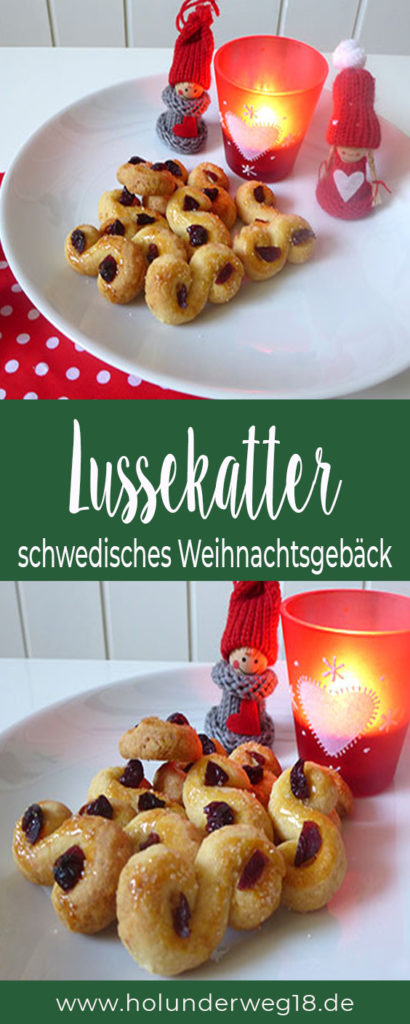 Lussekatter Rezept - schwedische Weihnachtsplätzchen