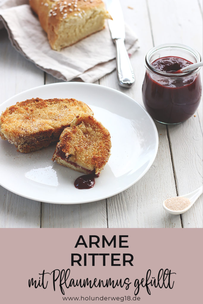Rezept für gefüllte Arme Ritter mit Pflaumenmus