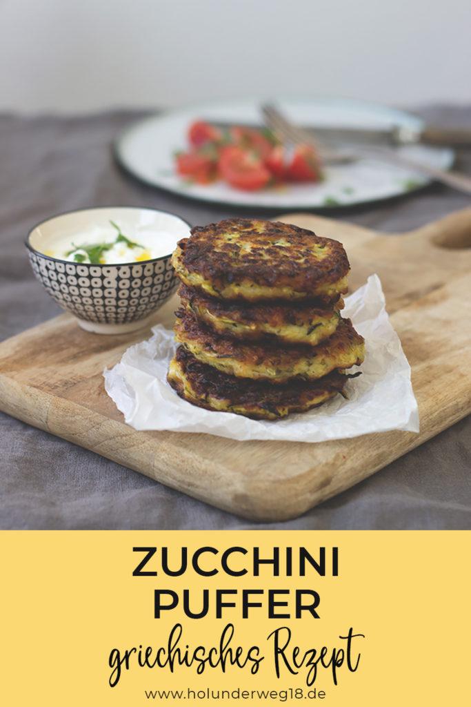 Rezept für vegetarische Zucchini-Puffer nach griechischem Rezept