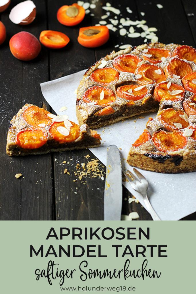 Aprikosen-Mandel-Tarte - Rezept für saftigen Aprikosenkuchen mit Mürbeteig