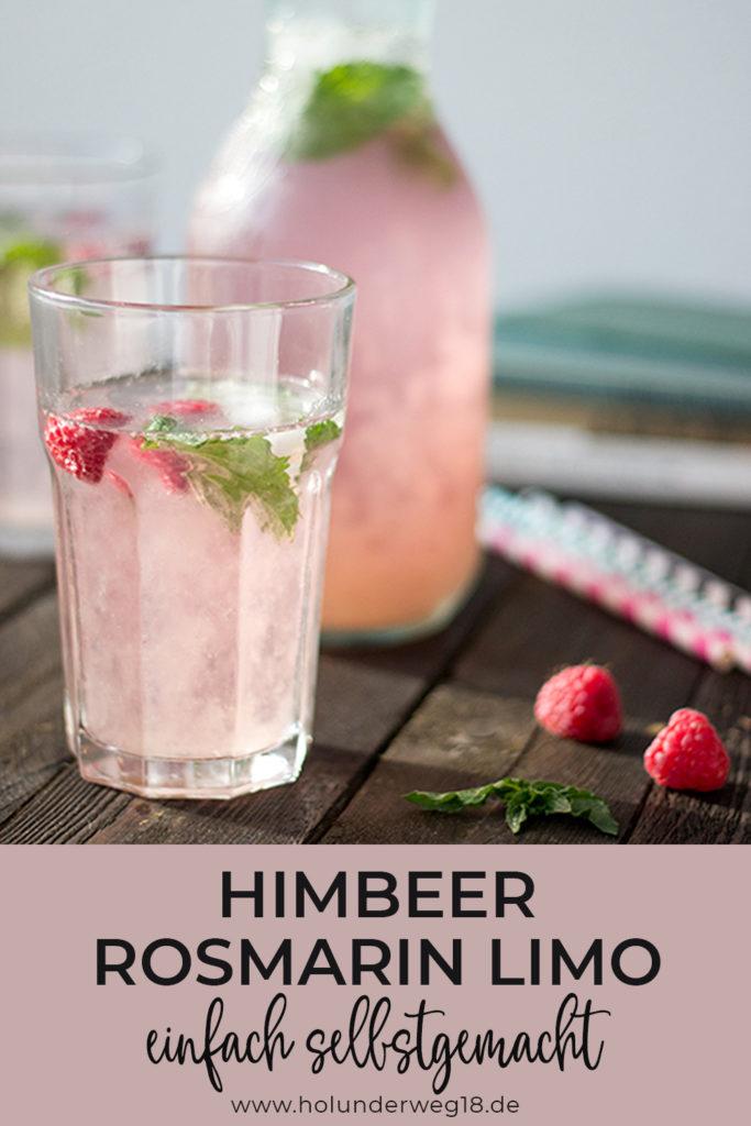 Selbstgemachte Limonade: rezept für Himbeer-Rosmarin-Limo