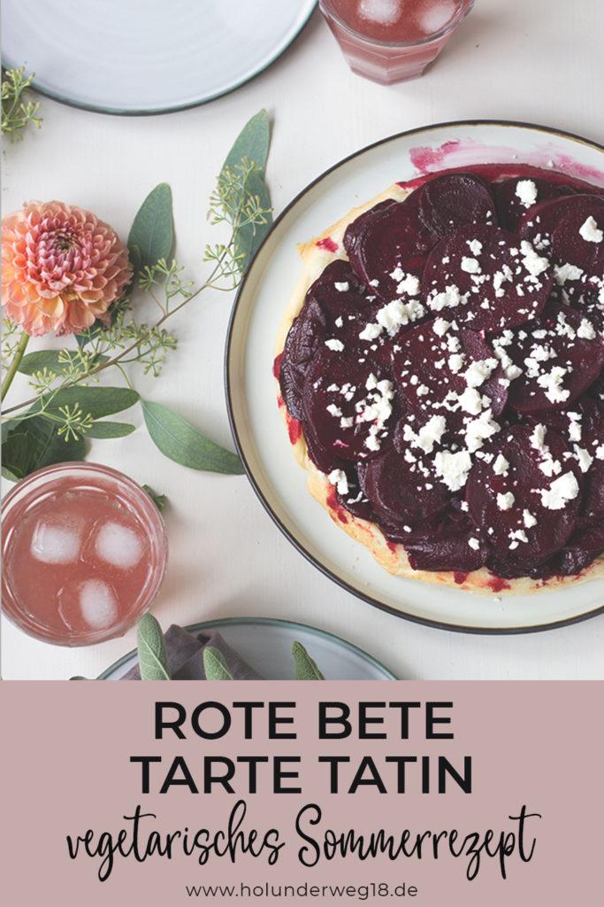 Rote Bete-rezept vegetarisch: Rote Bete Tarte tatin mit Blätterteig und Feta