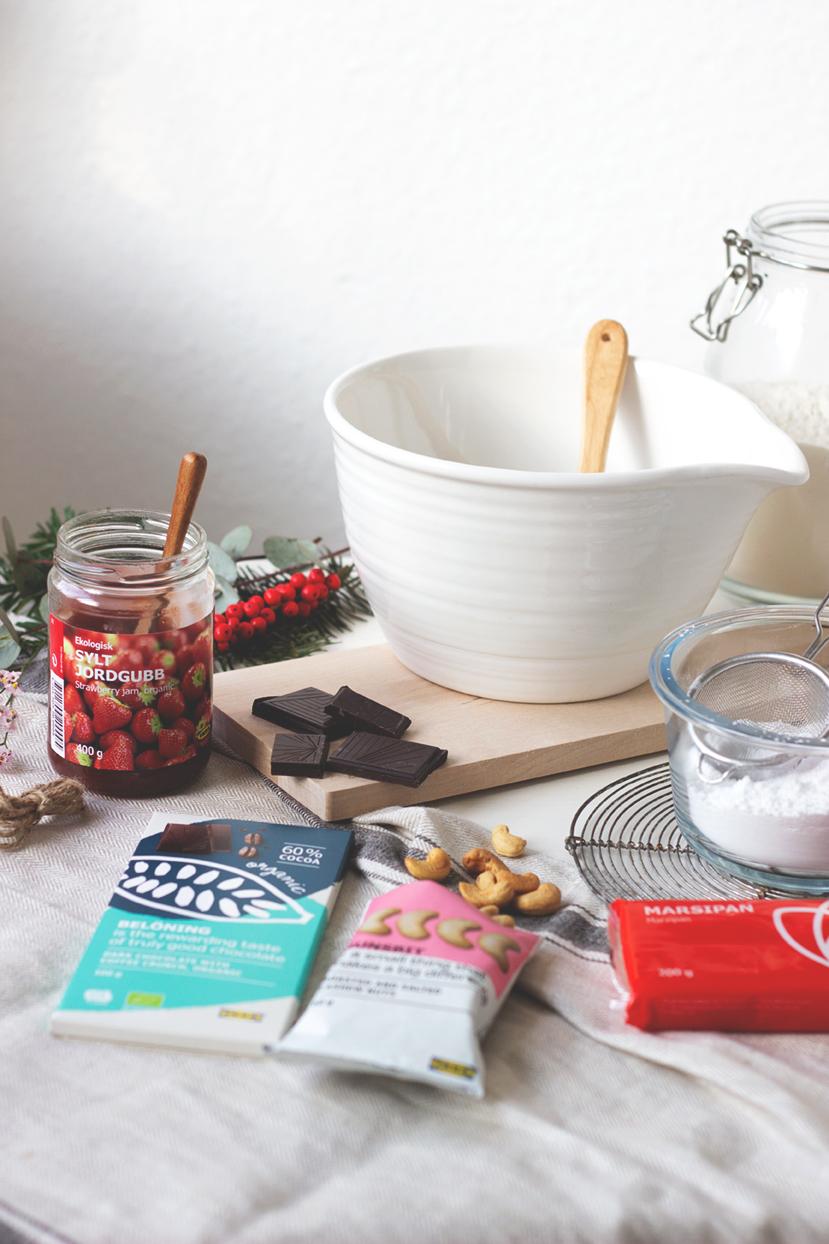 Einfache Weihnachtsplätzchen ohne Ausstechen mit Zutaten von IKEA