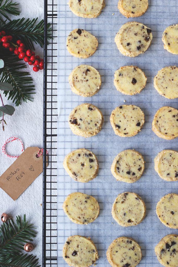 Weihnachtsplätzchen ohne Ausstechen: Cashew-Schoko-Plätzchen