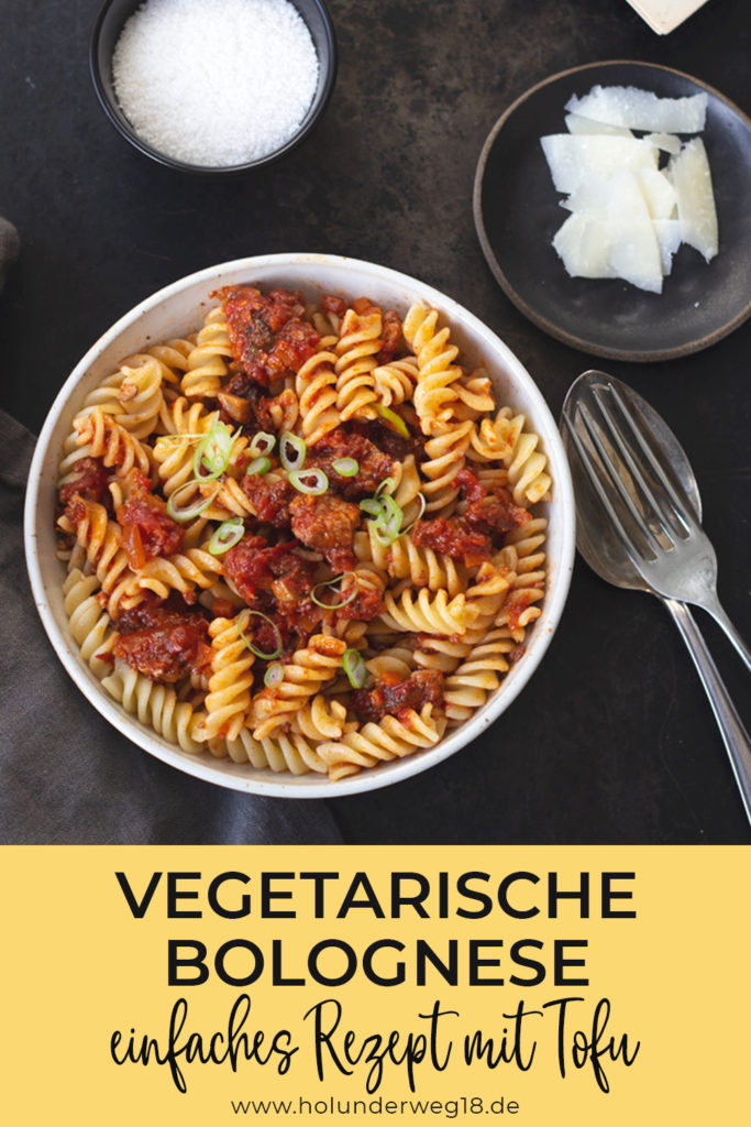 Vegetarische Bolognese – einfaches Rezept mit Tofu und Karotten