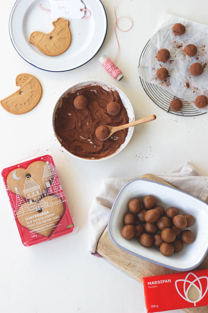 Geschenke aus der Küche mit IKEA: Marzipan-Pfefferkuchen-Kugeln