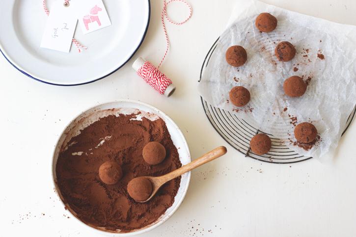 Marzipan-Pfefferkuchen-KUgeln. Rezept Geschenke aus der Küche