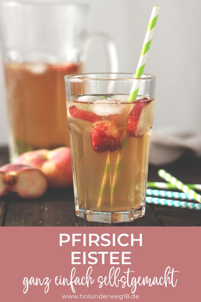 Pfirsich-Eistee Rezept: Ganz einfach selbstgemacht ohne Schwarztee, perfekt für Kinder