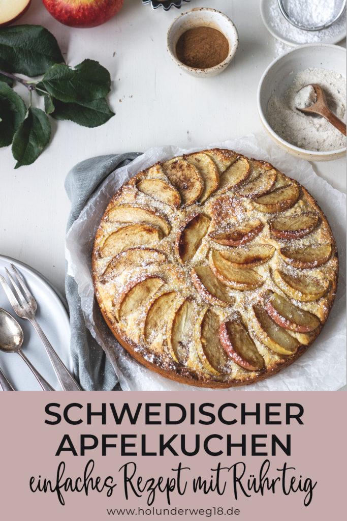 Einfaches Rezept für schwedischer Apfelkuchen mit saftigem Rührteig