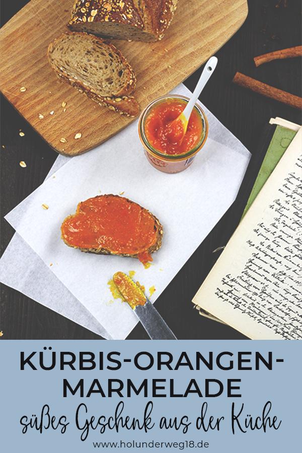 Rezept für süße Kürbis-Orangen-Marnelade, selbstgemachtes Geschenk aus der Küche